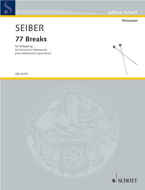 77 Brise Seiber, Mátyás Percussion 9790001142342-afficher Le Titre D'origine Moins Cher